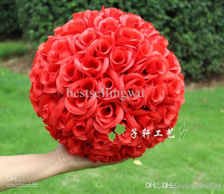 고품질 암호화의 인공 시뮬레이션은 신년 축제 결혼식 장식 꽃다발에 장미 꽃 공을 키스