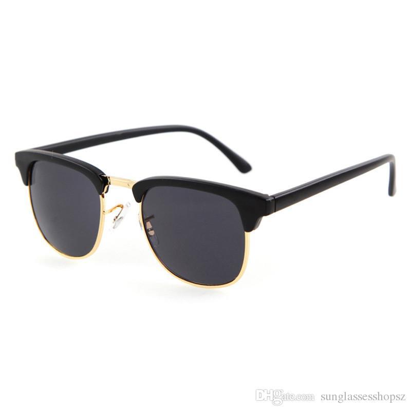 2017 Hot Hot de alta calidad redondo nuevos hombres Steampunk Mujeres Vintage Marca de diseño Gafas de sol Gafas de alta calle Gafas de sol UV400 OERES