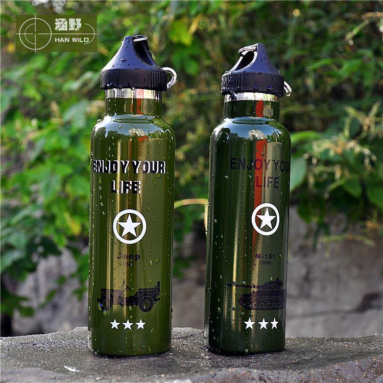 الألومنيوم زجاجة 750 مل الفولاذ المقاوم للصدأ مضاعفة بلدي زجاجة 500 مل الزجاج ركوب زجاجة ماونتنير الألومنيوم زجاجة ماء 1L