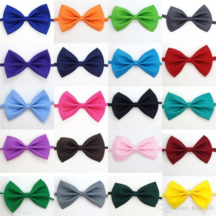 Nuevo color sólido de manera hermoso niños Pajarita fácil ocio 20 colores del bebé corbatas de accesorios niños IA941
