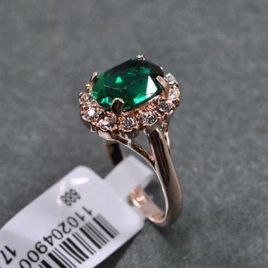 Ücretsiz Kargo En Kalite Zümrüt Moda Zarif Kadın Yüzük ile Rhinestone, Band Diamond Takı fabrika fiyat, toptan fiyat, en iyi hediye