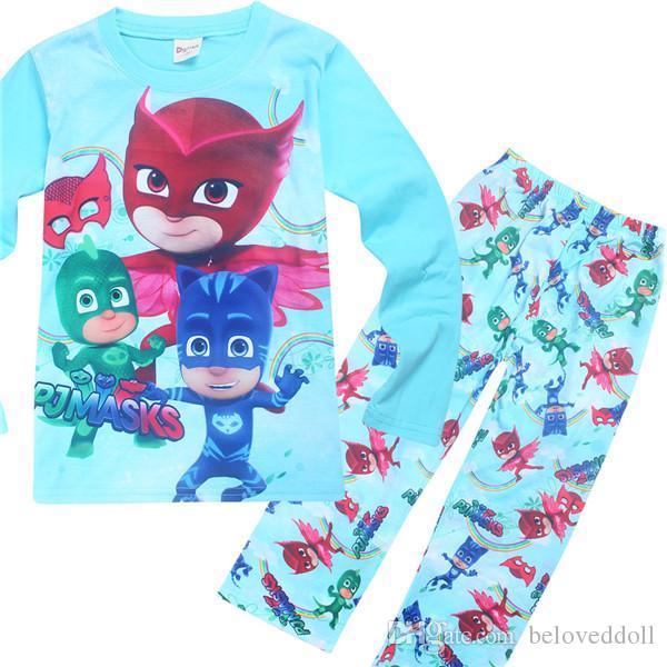 Garçons Enfants PJ Masque Pyjamas Comic Style 2 Pièce pleine longueur personnage Nightwear