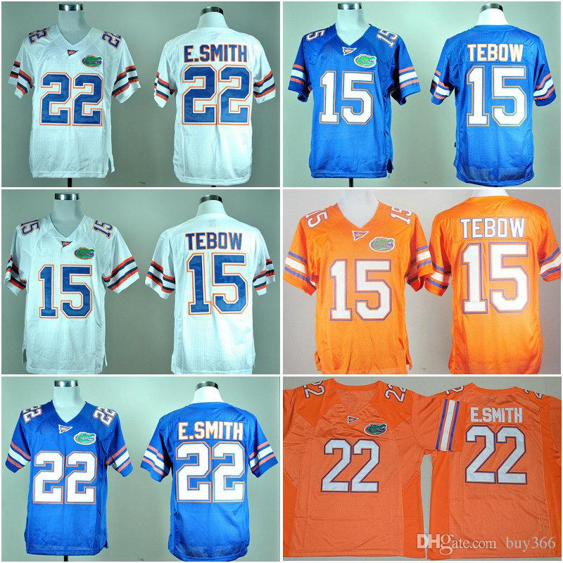 best service 30ceb 99c9e 2019 2018 College Florida Gators Football Jerseys NCAA 15 Tim Tebow Jersey  22 E.Smith Team Color Blue White Orange Stitched And Embroider Jersey From  ...