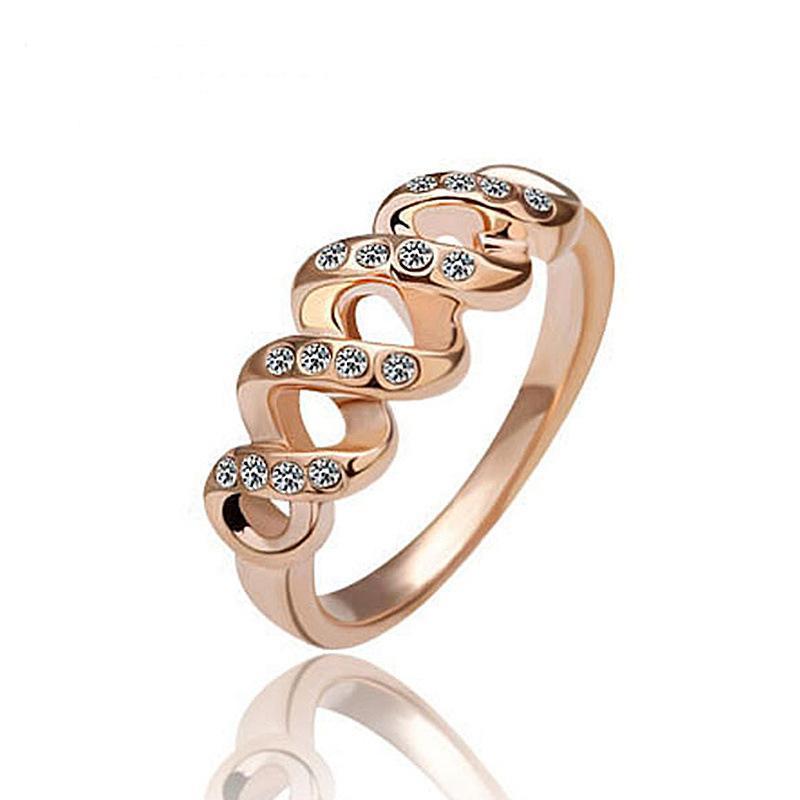 Anillos para mujeres Alianzas de boda Vestido Anillos de compromiso llenos de oro rosa Anillos de moda Marcas de joyería coreana Anillos de oro Anillos de diamantes masónicos