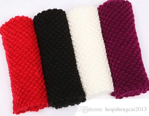 2016 новая мода новые поступления женщины Человек теплый вязать шеи круг шерстяной капот Snood длинный шарф шаль обернуть 50 шт. / лот
