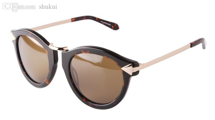 Wholesale-2016 جديد أزياء العلامة التجارية كارين المرأة جولة الإطار المعدني السهم الاستقطاب الرجال ووكر القيادة نظارات الشمس هلالية دي