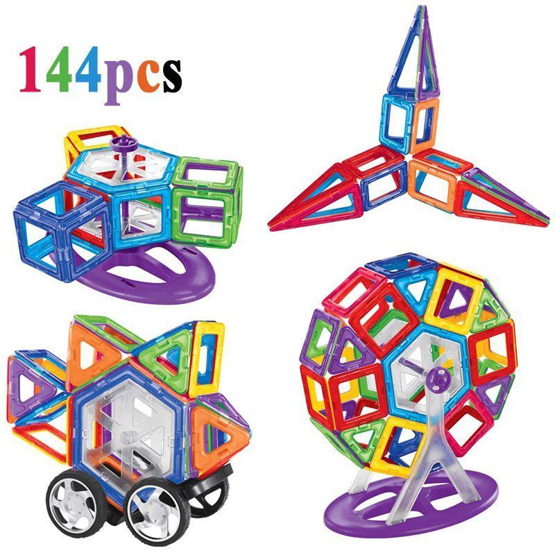 Euorpean 장난감 144 PC / 세트 표준 유사한 마그네틱 빌딩 장난감 Abs 플라스틱 3D Diy 자기 건물 일치 벽돌