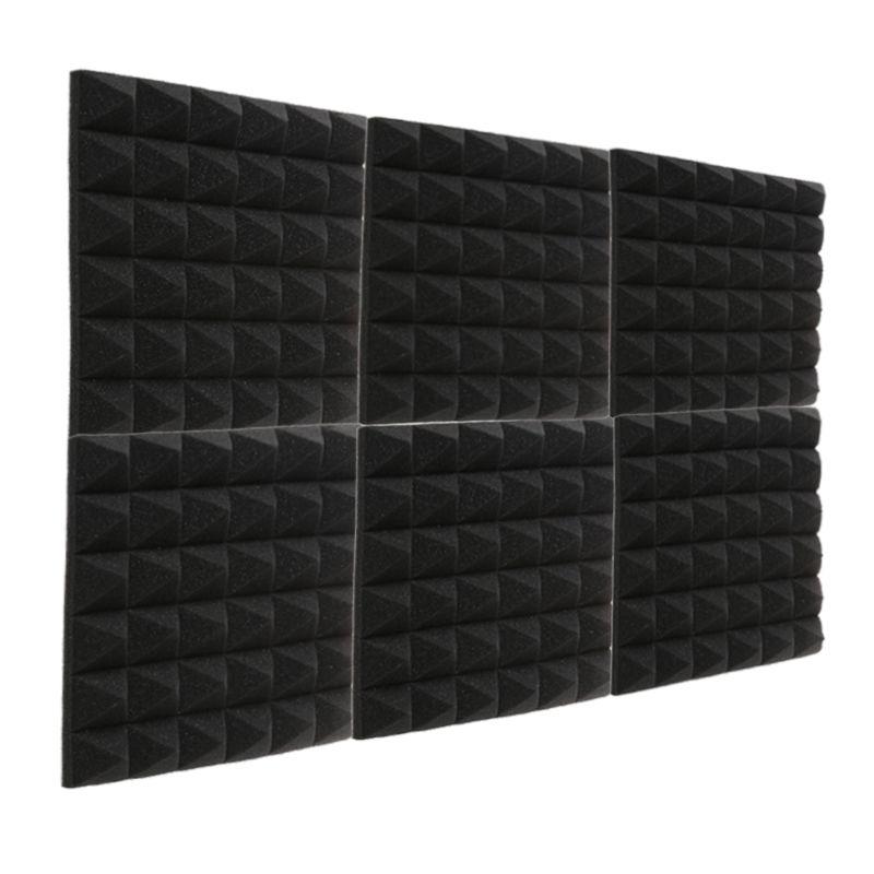 24PCS feuerfeste Pyramide-Akustikschaum-Aufnahmestudio-Schallisolierung Schwamm-Ton-Behandlungen schalldichte Platte 12X12X2 Zoll
