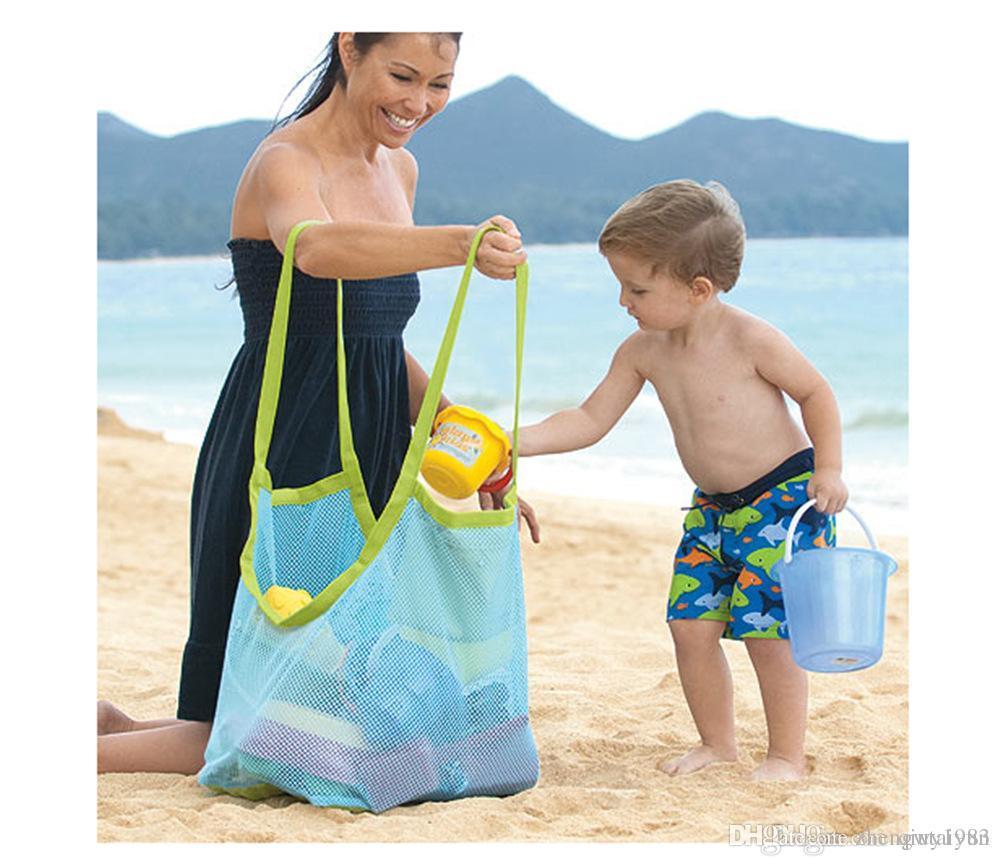 2015 prix le plus bas Extra large sable plage maillage sac Enfants Plage Jouets Vêtements Serviette Sacs bébé collection de jouets sac en stock 531
