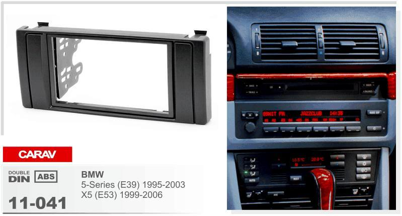 CARAV 11-041 طقم تثبيت ستريو راديو مثبت بتركيب 2-DIN dash for BMW 5-Series (E39) 1995-2003؛ X5 (E53) 1999-2006