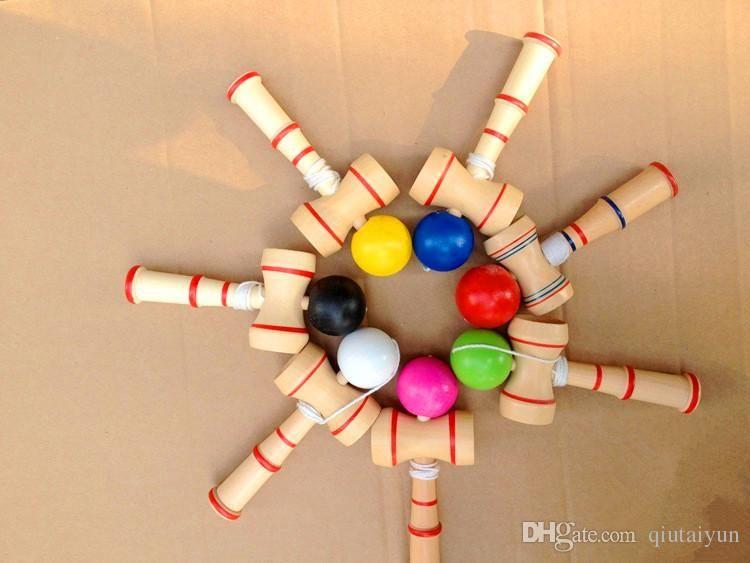Кэндама Ball Game Ball навыков Смешные Японские Традиционные Деревянные Игры, Игрушки Кэндама Бал Образования Подарок Новый A21 B149
