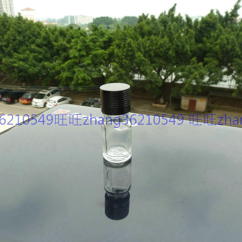 5m 투명 / 투명 유리 에센셜 오일 병 반짝이는 검은 색 알루미늄 캡. 오일 바이알, 에센셜 오일 용기