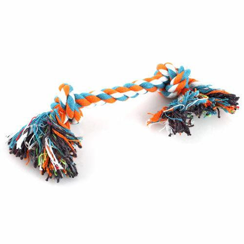 Pratik Köpek Yavru Pet Pamuk Örgülü Kemik Halat Çiğnemek Düğüm Oyuncak DTZE # 7887
