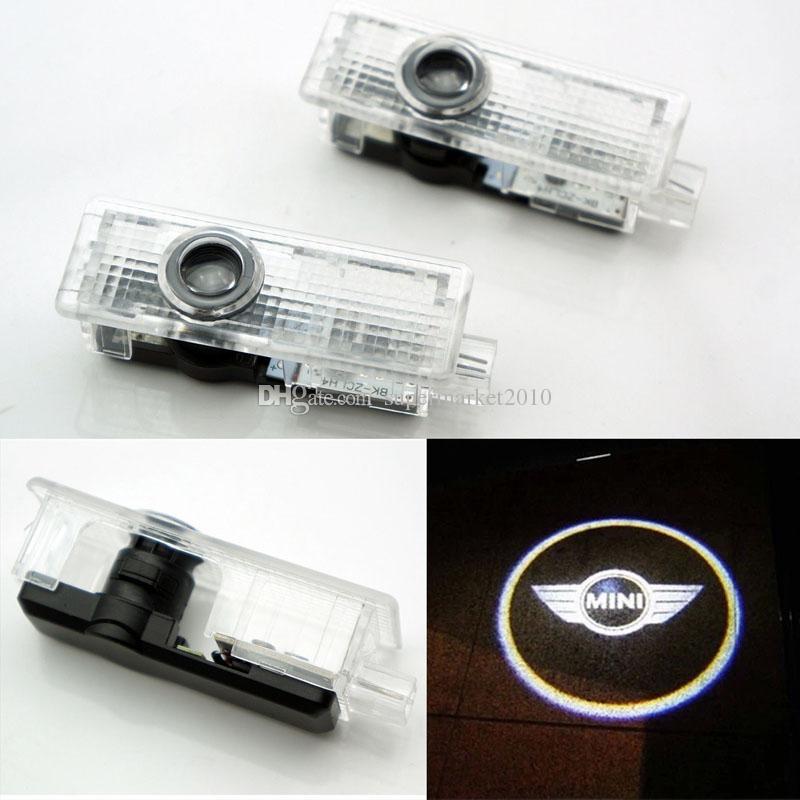 2 PCS voiture porte lumière et ligne Pour Mini Cooper Un S R55 R56 R58 R59 R60 R61 F55 F56 Countryman Clubman lampe laser Projecteur LED Accessoires