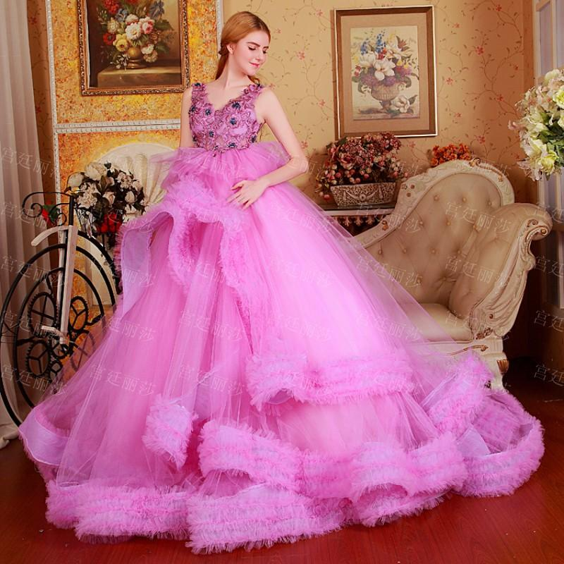 quinceanera dress embroidered light pink