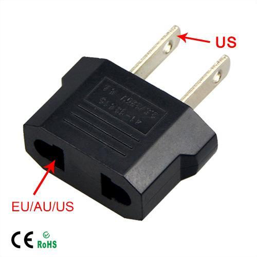 1 Adet Evrensel Seyahat AB veya ABD, ABD AC Fiş Dönüştürücü Euro Avrupa ABD Duvar Prizleri Güç Adaptörü Şarj Outlet