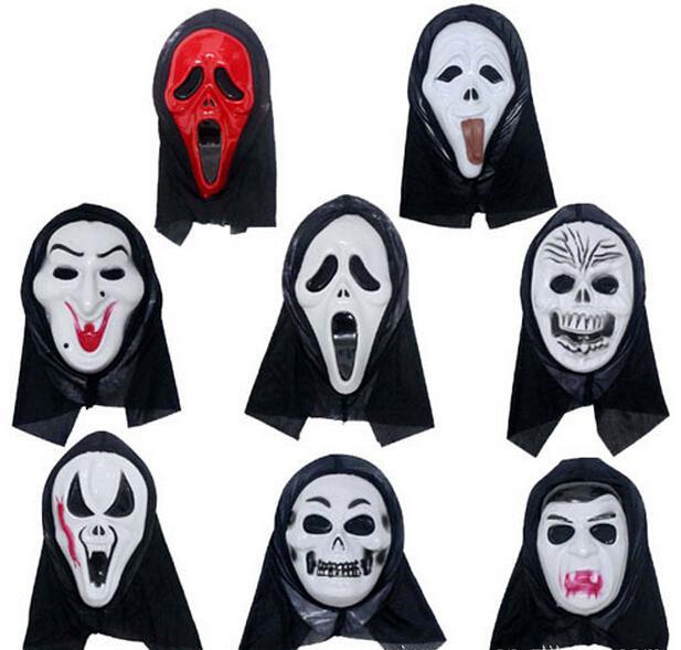 Halloween Mask Party Scary Mask Ghost Mask Face Mask Scream Mask Kostym Skalle Skelett Mask Halloween Kostymer Masker Gratis frakt i lager