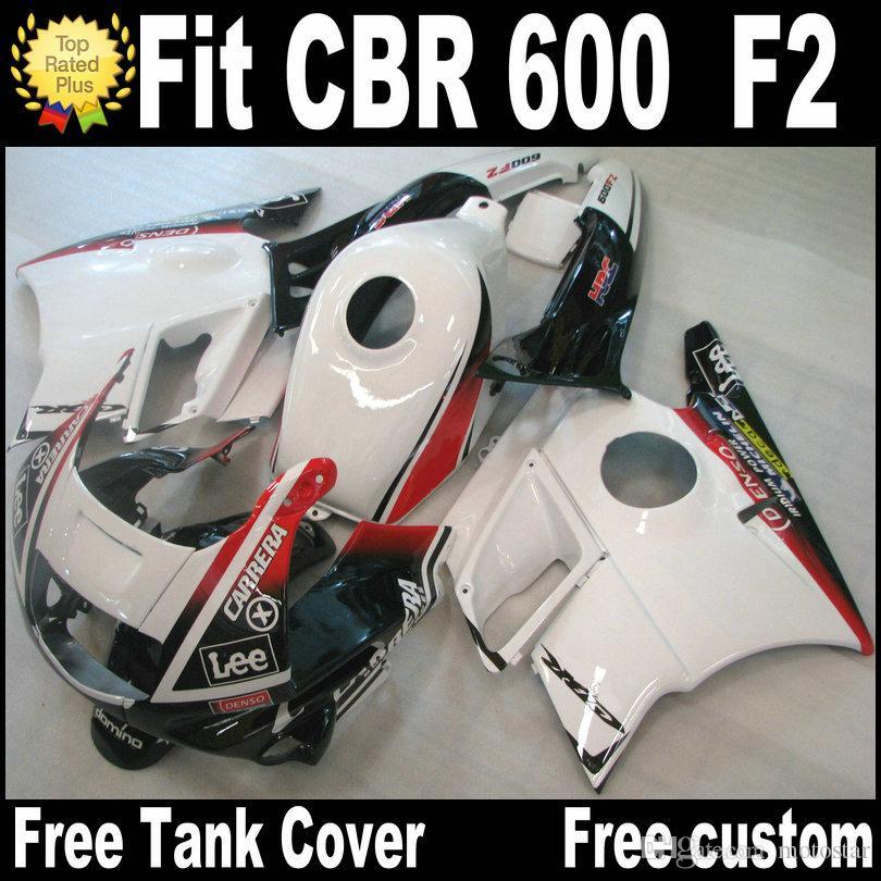 Faneros de motocicletas para HONDA CBR 600 1991 1992 1993 1994 F2 CBR600 91 - 94 Kit de carenado de plástico blanco negro rojo RP8