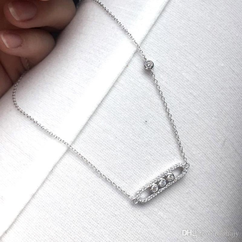 style unique nouvelle arrivée nouveau produit Wholesale Collier Limited 2017 New Design Fashion Brand Jewelry Messika  Necklace With 925 Silver Cz Stones Pendants For Women Wedding Length 45cm  Bar ...
