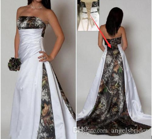 Discount Customized Strapless Wedding Dresses Ruched Bodice Sleeveless Sweep Train Realtree Camo White Wedding Dresses Plus Size Bridal Gowns Unique Wedding Gowns Vintage Wedding Dresses For Sale From Angelsbridep 129 64 Dhgate Com