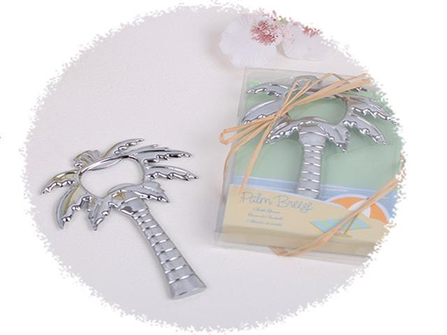 """Fedex DHL Free Shipping """"Palm Breeze"""" Chrome Palm Tree Bottle Opener wedding Party Gifts ,400pcs/ lot"""