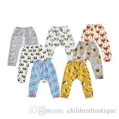 2018 Fashion Children Clothing Kids Pants Toddler Baby Boys Girls Cute Cartoon Animal Print Harem Long Pants Trousers Bottom Leggings