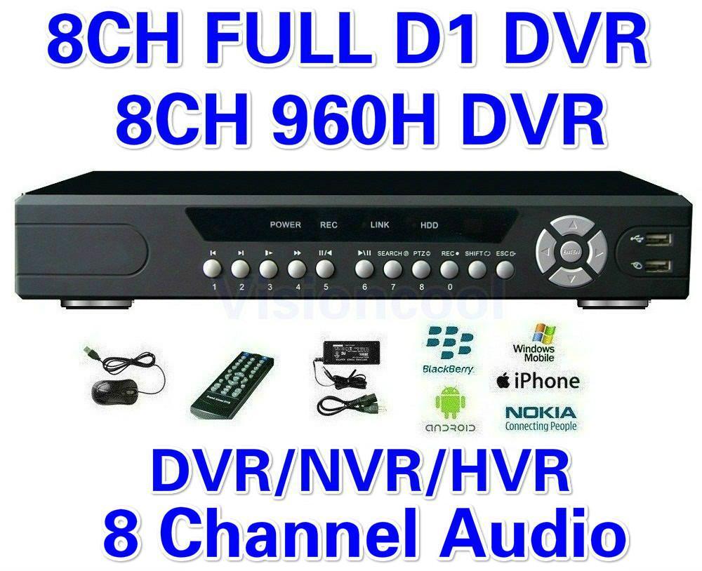 CCTV 8ch полный D1 H. 264 DVR автономный 960H DVR SDVR / HVR / NVR система безопасности 1080P HDMI выход DVR PTZ поддержка + бесплатная доставка