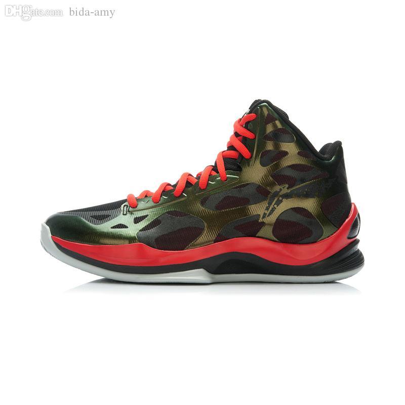 Acheter Gros Li Ning Hommes Chaussure De Basket High Cut Sonic 3 Hommes Professionnels Coloré De Revêtement De La Mode Chaussure De Basket ABPK021 De