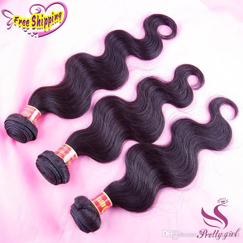 Peruvian Malaysian Indian Brazilian Virgin Hair Bundles Cheap Unprocessed Body Wave Remy Human Hair Weave Extensions 3Pcs Lot Double Wefts