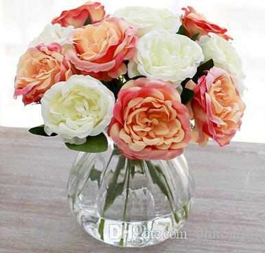 simcer rose silk artificial flowers home decorations and party wedding decorative free shipping hot sell item