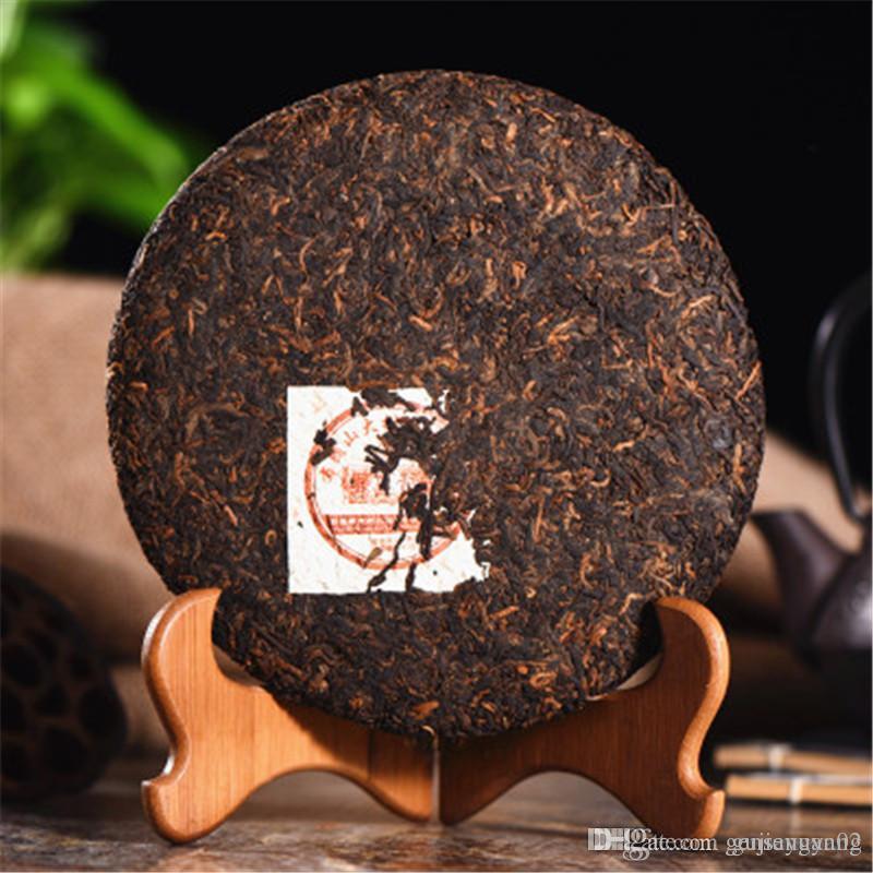 Продвижение 357g Зрелый пуэр чай Yunnan Brown Mountain Big Tree черный чай Pu'er Cake Органические Природный Pu'er Старое дерево Приготовленный чай Pu'er
