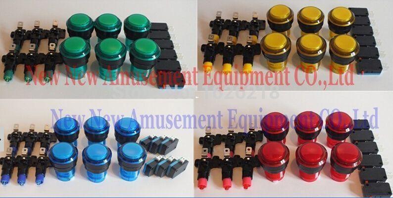 24 pcs Novo 32 MM Arcade Video Game Grande Rodada Botão LED Iluminado Iluminado Lâmpada
