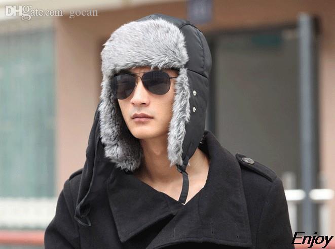 Wholesale-2015 new winter warm hats for women balaclava face mask hat veil with ear beanies for men cap balaclava casual winter cap chapeu