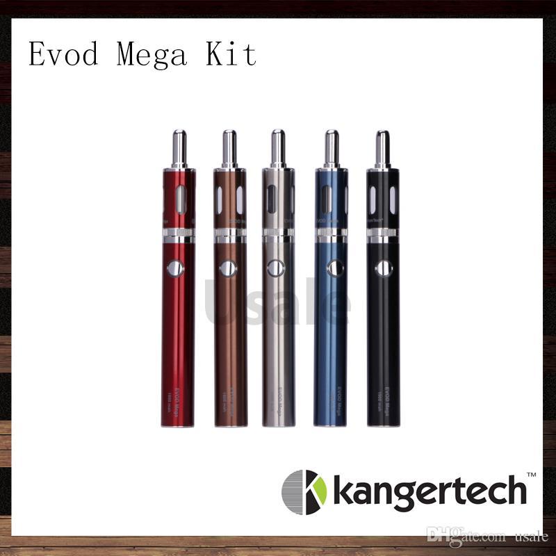 Kanger Evod Mega Express Kit 100% originale Kangertech Evod Mega E-sigaretta Starter kit con 2,5 ml Atomizzatore 1900 mAh Batteria