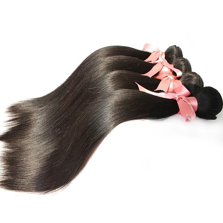 """12 """"-30"""" 4pcs / lot remy jungfrubrasilianska hårbuntar förlängningar silkeslen rak mänskligt hår väft naturligt färg hår väv greatem"""