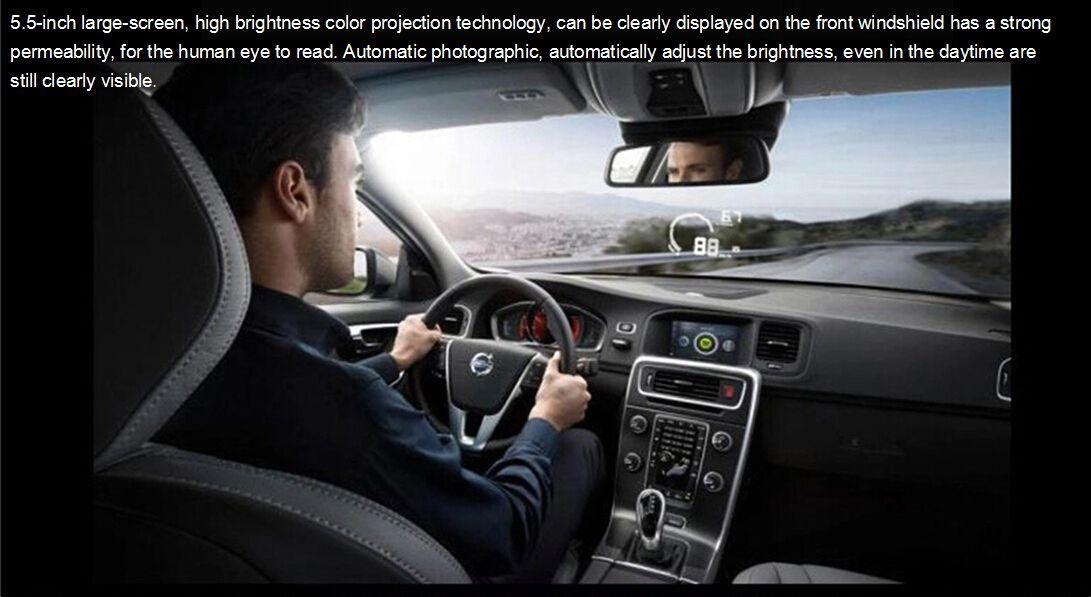 5PCS Ifound HUD S5 OBD 일반적인 운전 오류 감지기 스마트 미터 연료 온보드 컴퓨터 디스플레이 주행차 자동차 HUD 5.5 인치 컬러 프로젝션