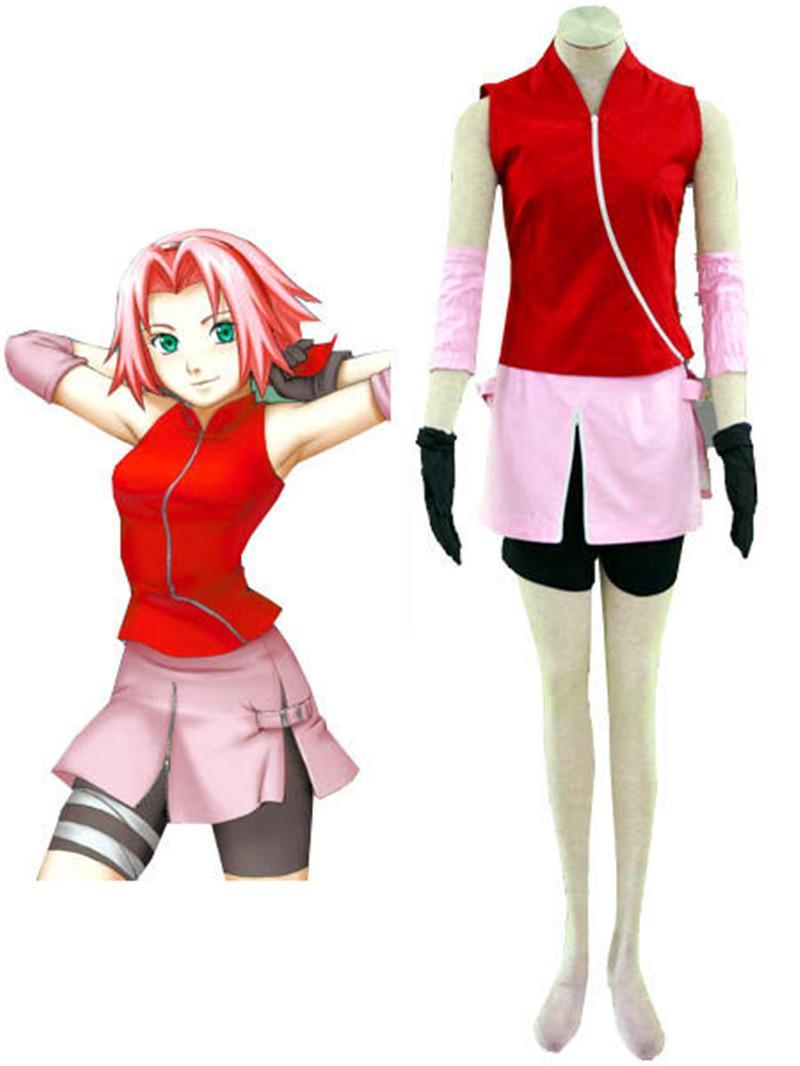 Sakura Haruno Suit Uniform Cosplay Costume Custom Made