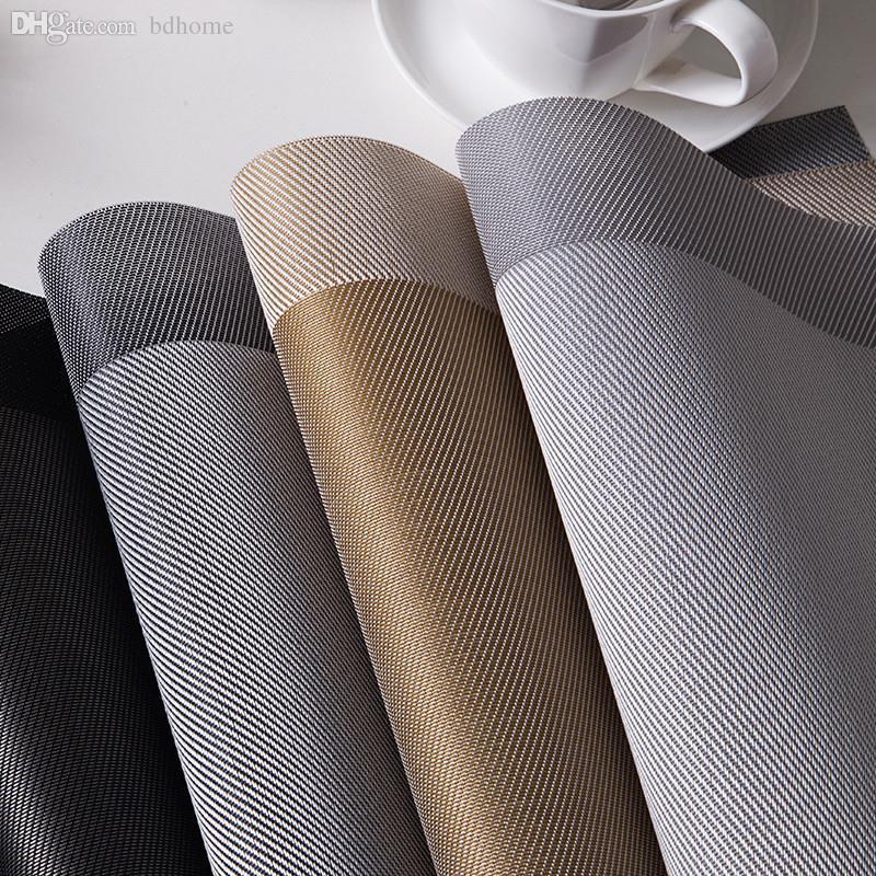 All'ingrosso-4 stile di colore solido 4 pezzi in PVC tavolo da pranzo tovaglietta set sottobicchiere ciotola pad mat mat tavola impermeabile pad antiscivolo pad resistente