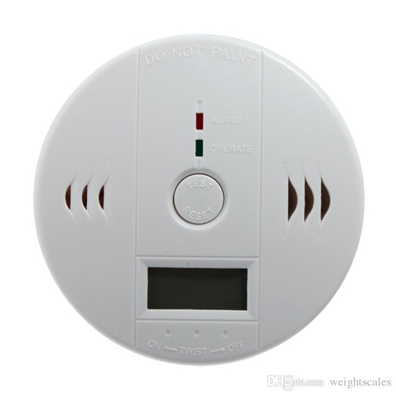 CO Carbon Monoxide Detector Alarm Sensor Poisoning LCD Gas Fire Warning Alarm Sensors Brand new white 20pcsGas Analyzers