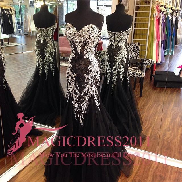 Sexy Black Lace Вечерние платья Backless Формальные Пром платья для особых случаев платье Русалка Милая Стразы Кристалл арабский Дубай