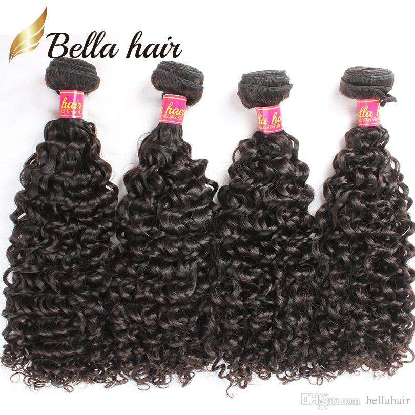 Bella Capelli Capelli brasiliani Bundles ricci Vergine di trama dei capelli umani Estensioni ricci Weaves 4pcs / lot Bundles all'ingrosso alla rinfusa