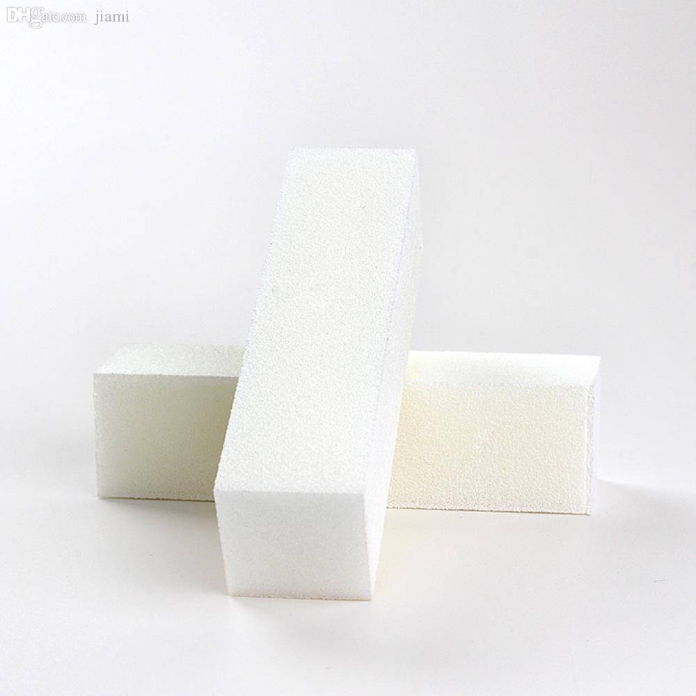 Gros-10pcs bonne qualité en gros Livraison gratuite blanc Buffing Ponçage fichiers Bloc Pédicure Manucure Soins Lime à ongles Tampon pour SALON
