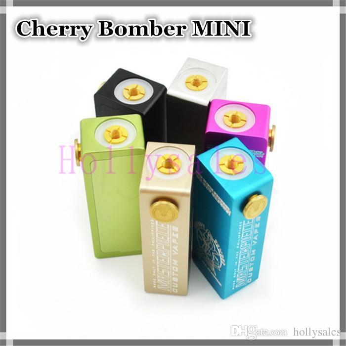 Cherry Bomber Mechanical Box Mod Clone Cherry Bomb Mini 18650 Box Mod With  Aluminum Body Vs Dimitri,Osmium Mods DHL Cheap Ecig Mod Diy Ecig Mods From