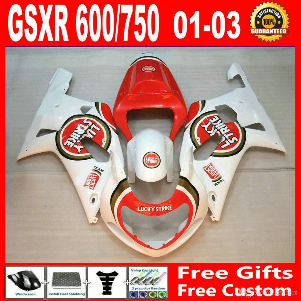 Suzuki GSXR 600 750 00 01 02 03 Fairing GSXR600 GSXRR750 2001 2002 2003 럭즈 트라이크 키트