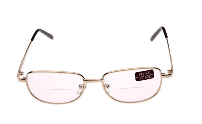 Classic Unisex Metal Frame Bifocal Reading Glasses Spectacles Reader Clear Sunglasses Eyeglass Diopter +1.0-4.0 10Pcs/Lot Free Shipping