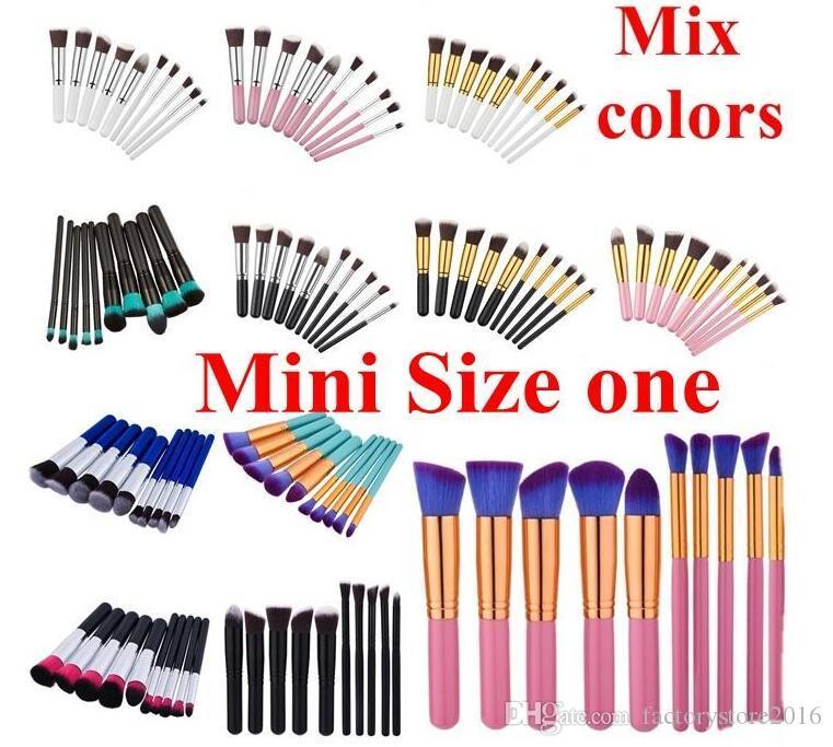 DHL 10 Stücke Make-Up Pinsel Set Make Up Puder Pinsel Maquillage Beauty Kosmetik Werkzeuge Kit Lidschatten Foundation Blush Brushes Auf Lager