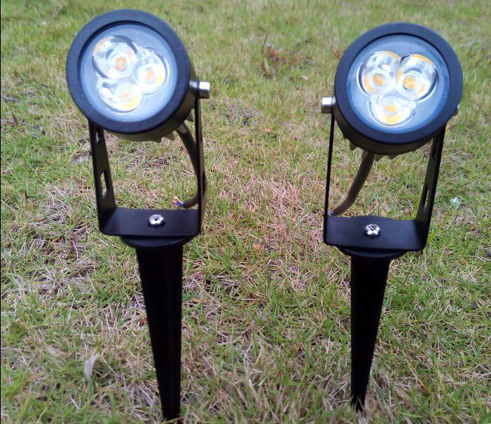 Im Freien Garten-LED Lawn Lampen 3W hohe Leistung 3x1W Glühlampe 3 Watt Spot-Leuchten Lampen Spotlight CE ROSH Wasserdichtes IP65 Beleuchtung 30pcs / lot