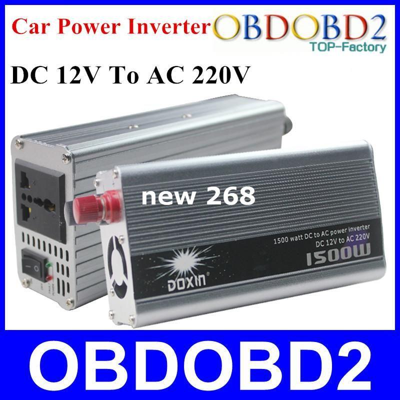 최고의 품질 Doxin 1500W 자동차 전원 인버터 어댑터 USB 포트 1500 와트 충전기 가정용 DC 12V ~ AC 220V 전압 변환기