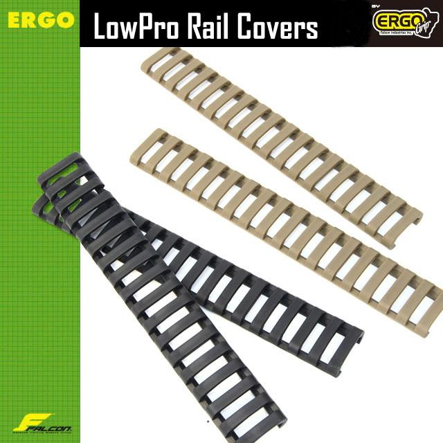 """Tactical 7"""" Picatinny Ladder Rail Quad Rail Rubber Covers (pack of 4) Black/Tan"""