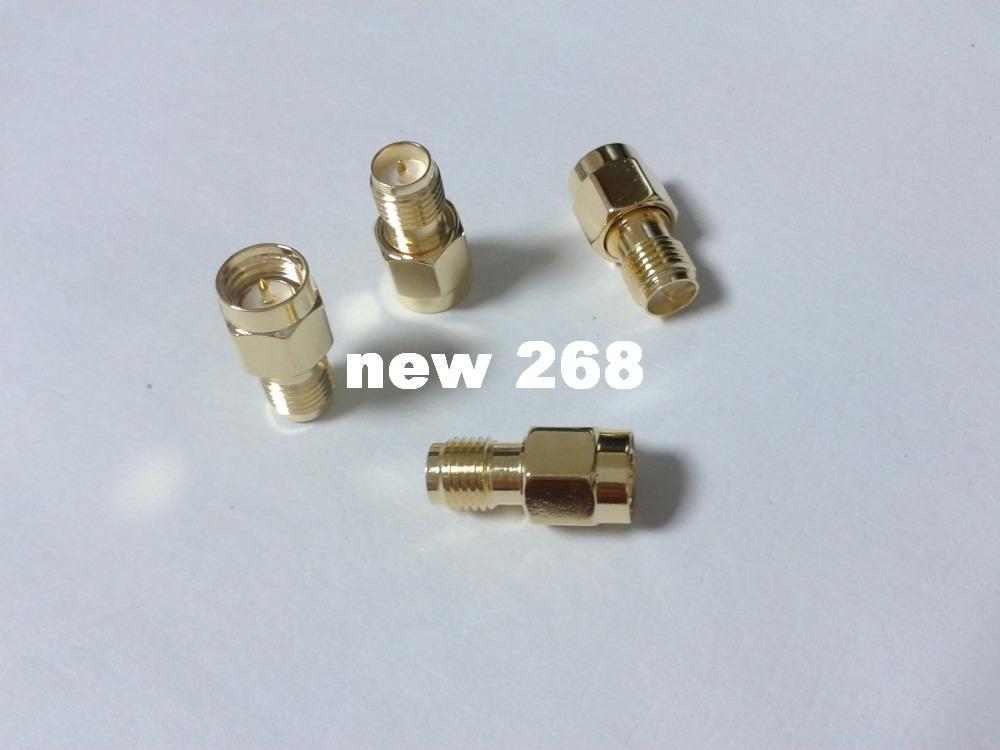 100 pcs Gold plate SMA male plug to RP-SMA female plug RF coaxial connectors